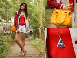Danica Salazar - Tee Culture Varsity Jacket, Parisian Bag - Sporty