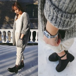 Linh Vu - Brandy Melville Usa Plain White Tee, Forever 21 Cardigan, Casio Watch - Sloppy