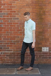 ABC . - The Lucid Collective Mint Ss Chairman Shirt, I Love Ugly Selvage Denim, Asos Brogues - Cut and Dry