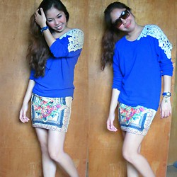 Rhea Inot - Blue Top, Pencil Skirt - Blue s the new color of love!