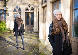 Jana Couture - Mango Coat, H&M Cozy Hat, Lloyd Brown Boots, Zara Black Blouse - Little darling, here comes the sun