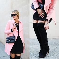 Devon D - Céline Sunglasses, Chanel Bag, Nordstrom Coat - The Pink Coat