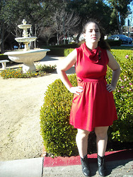 Dani RT - Modcloth Red Dress - Mod Red