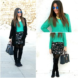 Annalisa Masella (www.insideme.it) - H&M, Zara, Maggiegi, Jijil, Piero Guidi, Chicnova - Flowered Zara skirt