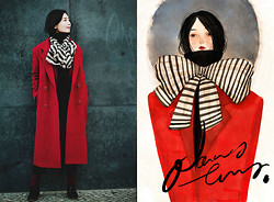 Nancy Zhang - Burberry Coat - Black in Red.