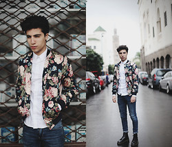 Ayoub Mani - Choies Flower Jacket, Zara Shirt, Cheap Monday Jeans, Dr. Martens Shoes Dr - Passion is our Power.