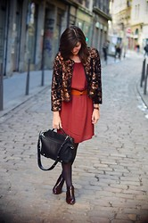 Céline Cavaillero - H&M Cardigan, American Apparel Dress, Zara Bag, Zara Booties - Overdose