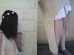 Amanda Parriott - Claire's Flower Crown, Forever 21 Shawl, Forever 21 Dress, Forever 21 Skirt, Mossimo Shoes - Girly Things