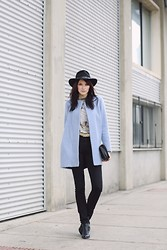 Ania B - Pendleton Hat, Zara Coat, Zara Top, Cheap Monday Jeans, Zara Boots - My baby blue