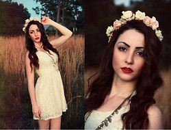 Natalie C - Vintage Lace Dress, Flower Crown - Wanderlust