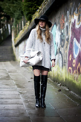 Lisa Dengler - Aldo Over The Knee Boots, Otte Alexis Hat - LACE DREAMS