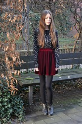 Laura R. - Urban Outfitters Blouse, American Apparel Velvet Skirt, Deena & Ozzy Boots - Getting Even