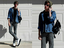 Levi Dodd - H&M Striped Pants, T.U.K. Creepers - The Boy in the Striped Pants