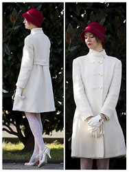 Nymphashion N. - Giorgio Armani Coat, Cinzia Rocca Hat, Romwe Stockings, Vivienne Westwood Shoes - Gatsby vibes