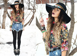 Katia Nikolajew - Bewolf Clothing Hat, Bewolf Clothing Blouse, Bewolf Clothing Jean Shorts - In Full Bloom...