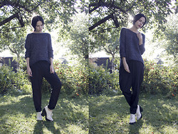Barbro Andersen - Only Sweater, Only Pants, Jeffrey Campbell Shoes, Tom Wood Rings - F*ck it - I just want to be happy.
