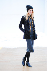 Blair B - S.I.C. Couture Blazer, Sam Edelman Booties - Midi love.