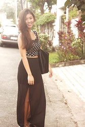 Andrea Ferma - Forever 21 Crop Top, Forever 21 Skirt, Mango Bag, Solemate Sandals - Polka dot-y