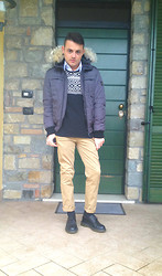 Gabriele Giuzzi - Zara Pants, Zara Sweater, Dr. Martens Shoes, Refrigiwear Jacket - Let's Go!!