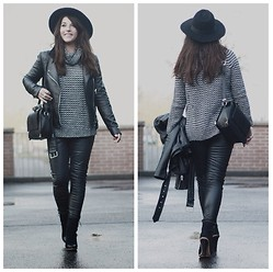 Wendy Van Soest - H&M Hat, Zara Turtleneck Knit, Forever 21 Jacket, Zara Bag, H&M Pants, Mango Shoes - TURTLENECK KNIT