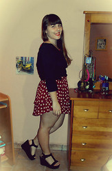 Petina Carvalho - Lefties Heart Skirt, Lefties Wedges, Primark Shirt - I keep falling for you
