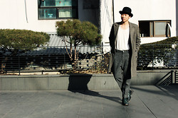 Hong Ju Lim -  - Fedora With Oversize Pants