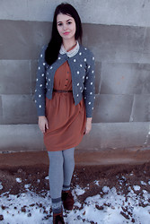 Eveline P - United Colors Of Benetton Cardigan, H&M Dress - Nothing worth having comes easy