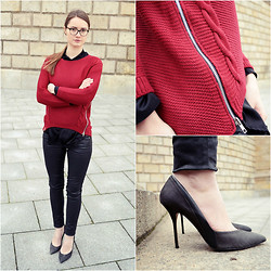 Izabella Kvist - Firmoo Glasses, Persun Sweater, River Island Heels - Cold as Ice