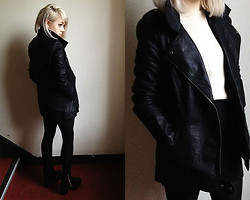 Kate G - Ribbon Jacket, Jollychic Black Boots - Late winter