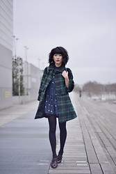 Leeloo P - Choies Coat, Dress Les Chats Perchés, New Look Shoes - Babydoll Tartan ♥