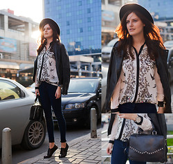 Viktoriya Sener - New Frog Shirt, Zara Hat, Mango Leather Jacket, Brogues Hotic, Hotic Bag - FREE BIRDS