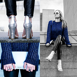 Lydia K - Kurt Geiger Shoes, Whistles Clutch, H&M Rings, Gina Tricot Leggings, Whistles Sweater, Kurt Geiger Sunglasses - Metropolis