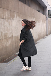 Annebeth B -  - Long Coat and Nike Air Max
