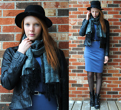 Quinn Bell - H&M Hat, Scarf, Collection B Jacket, H&M Midi Dress, Urban Outfitters Sheer Tighs, Aldo Boots - In the Waiting Line