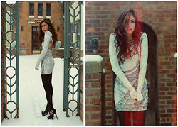 Emmy Corinne - Urban Outfitters Sequin And Velour Sparkle Dress - Nothing else compares