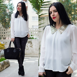 Emel Acar - Newfrog Blouse, Inci Deri Bag - Sequined Blouse