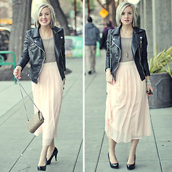 Hales Titus - Zara Leather Jacket, Aldo Pumps - Rough Meets Romantic