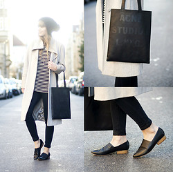 Lisa Dengler - Acne Studios Rumor Tote, Alexander Wang Striped Knit, Asos High Waisted Skinny Jeans - STREET CASUAL