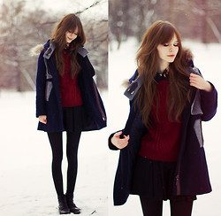 Mary Volkova - Sheinside Coat, Http://Www.Jollychic.Com/ Sweater - Winter outfit