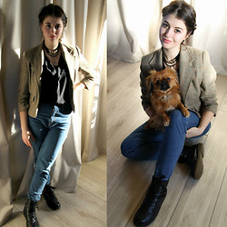 Eveline P - H&M Jacket, Pieces Necklace - My lovely dog <3