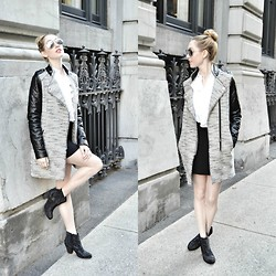 Jessica C. - Joe Fresh Top, Le Chateau Coat, Aldo Booties - Le Chateau