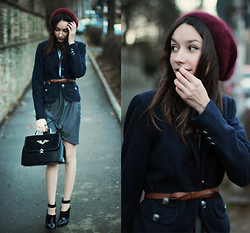 Bea G - Jacket, Skirst, Shoes, Belt, Beanie, Bag - Dark Shades