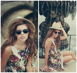 Georgina Walker - American Apparel Sunnies, In Love With Fashion Dress, Topshop Fedora Hat - Memoryhouse