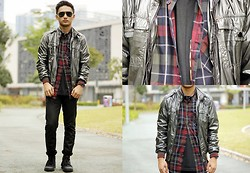 Stephen Garcia - Forever 21 Printed Button Down, Palladium Boots - Badass
