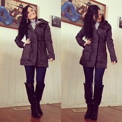 Cena Tamer - Charlotte Russe Rain Jacket - Cause Its Cold  Outside