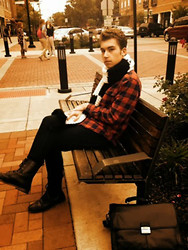 Brock Langel - Forever 21 Oversized Scarf, Vintage Flannel Shirt, Levi's® Levi's 511, Asos Boots - Look from 10/16/13