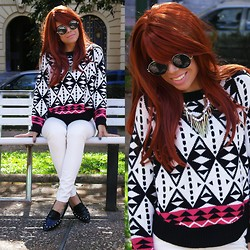 Priscila Diniz - Romwe Aztec Sweater - Feeling good!