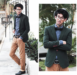 Bobby Raffin - Yesstyle Fitted Blazer, Glassesshop Tortoise Frames, Big Star Usa Camel Trousers, Pull & Bear Button Up - Everyday Holiday