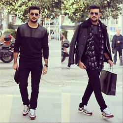 Kubilay Sakarya - Zara Black Shirt, Zara Pant, Nike Air Max - Total Black...