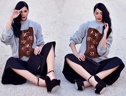 Konstantina Tzagaraki - Sweatshirt, Pants, Miu Purse - He that loves pleasure must for pleasure fall..